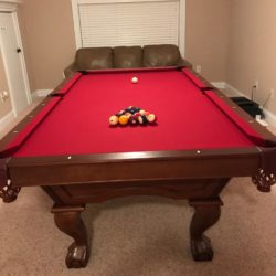 Standard size pool table